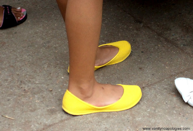 neon yellow shoes