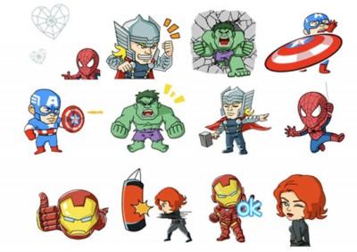 WeChat Hadirkan Stiker Animasi Marvel Super Heroes