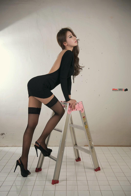 4 Park Hyun Sun - Studio Photo Shoot, 3 Different Outfits - very cute asian girl-girlcute4u.blogspot.com