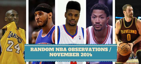 November 2014 NBA Storylines