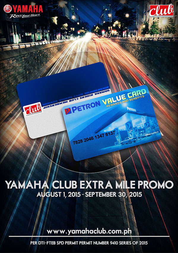 Yamaha Club Extra Mile Promo