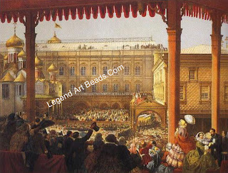 Scenes of events in Moscow during the coronation festivities in 1856, for which occasion Hancock's designed the Devonshire parure. Photos courtesy Sotheby's London