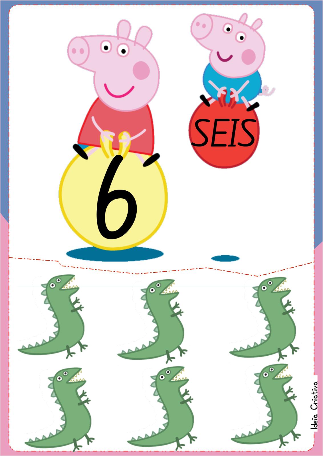 Numerais  Ilustrados  Peppa Pig