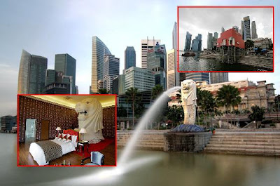 Merlion Singapore Lightning Picture on Mutual Sharing  Bi Lingual Website