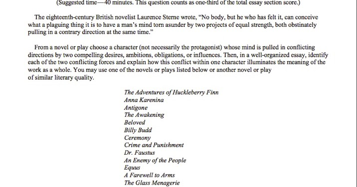 1999 ap lit essay questions