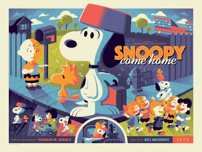 Snoopy Come Home Standard Edition Screen Print by Tom Whalen x Dark Hall Mansion