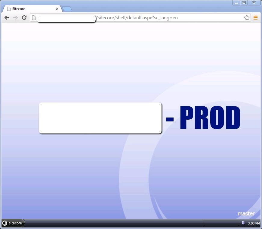 Custom Sitecore Background