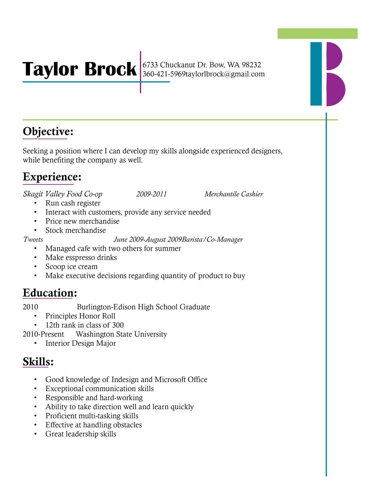 taylor brock design portfolio  resume