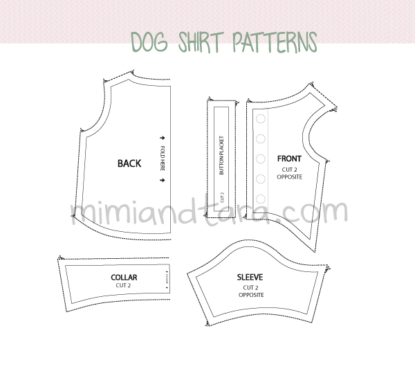 Dog shirt patterns | Mimi & Tara | Free Dog Clothes Patterns