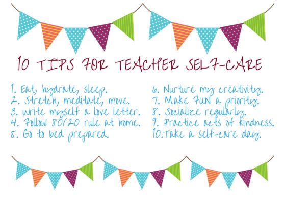 Ten Tips for Teacher Self-Care