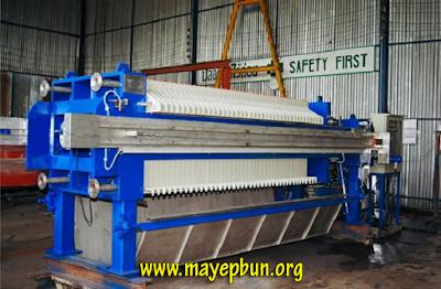 Máy ép bùn khung bản lắp đặt trong một nhà máy