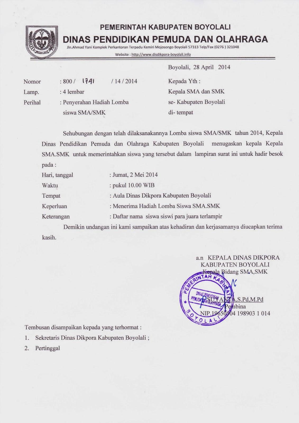 info sma smk kabupaten boyolali april 2014