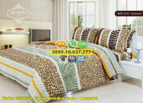 Sprei Kendra Gold - Leopard