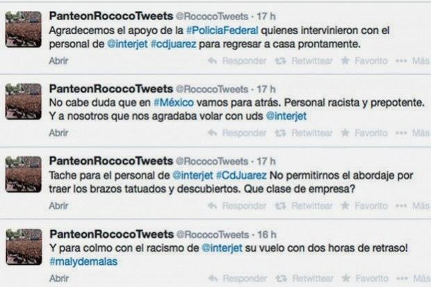 Twitter - Panteón Rococo molesto por racismo hacia ellos