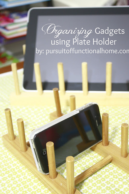 Organizing Gadget using plate holder