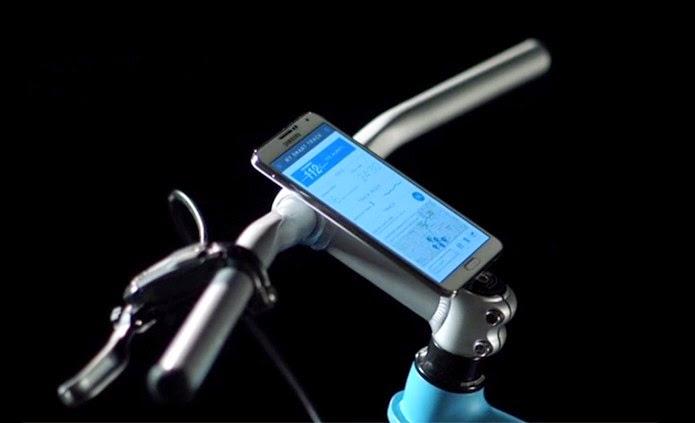 Bicicleta inteligente com Wi-Fi e Bluetooth da Samsung