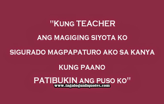 Tagalog Sweet Love Quote For Teacher