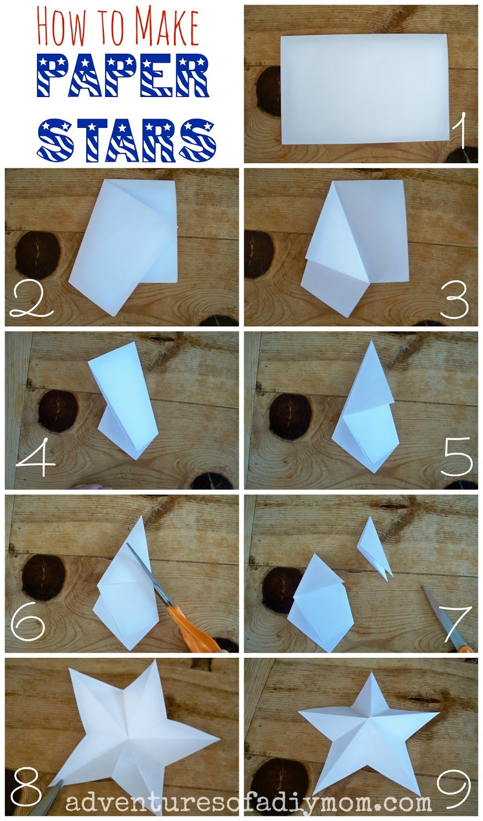 how to make 3 d paper stars adventures of a diy mom