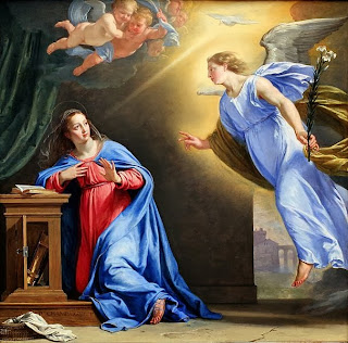 the annunciation of mary, painting, gabriel, mary, philippe de champagne