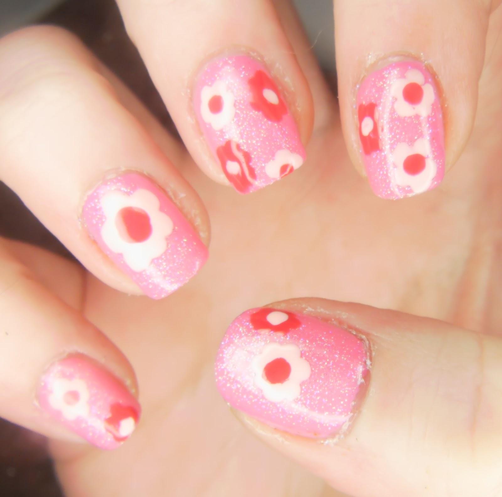 Girly Nail Art: SpecialGirl Nails: Girly Girl Nail Art Challenge: Think Pink