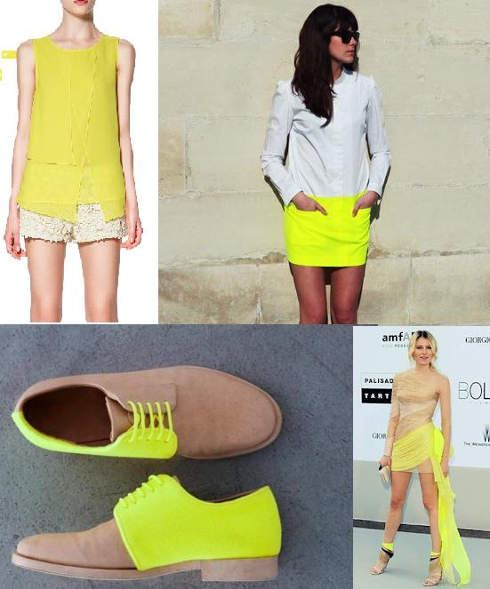 how to wear neon, neon and nude, neon, nude, neutral tones, beige