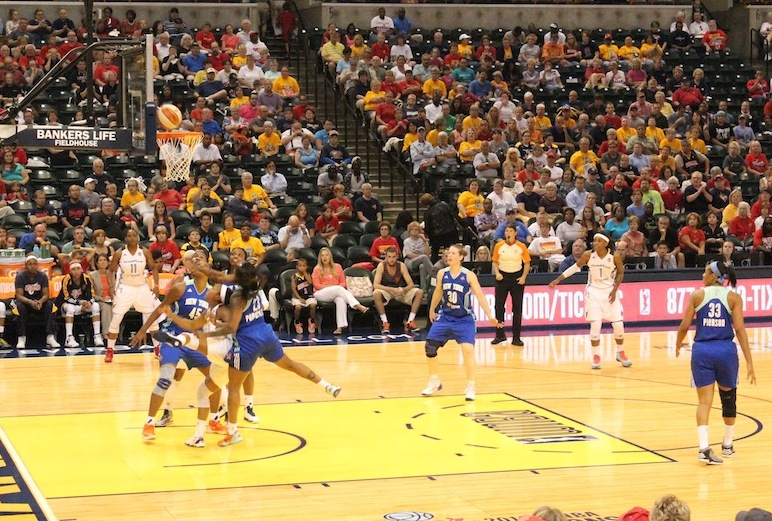Briann January shoots for two against the New York Liberty