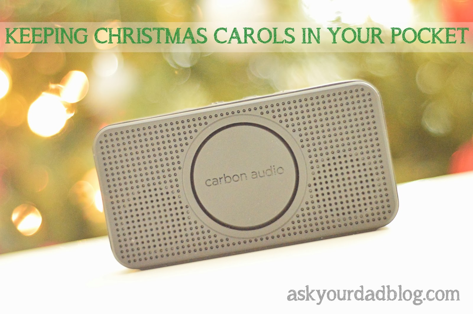 This awesome pocket speaker fills a whole room with Christmas cheer! #PocketBoom, #shop, #cbias