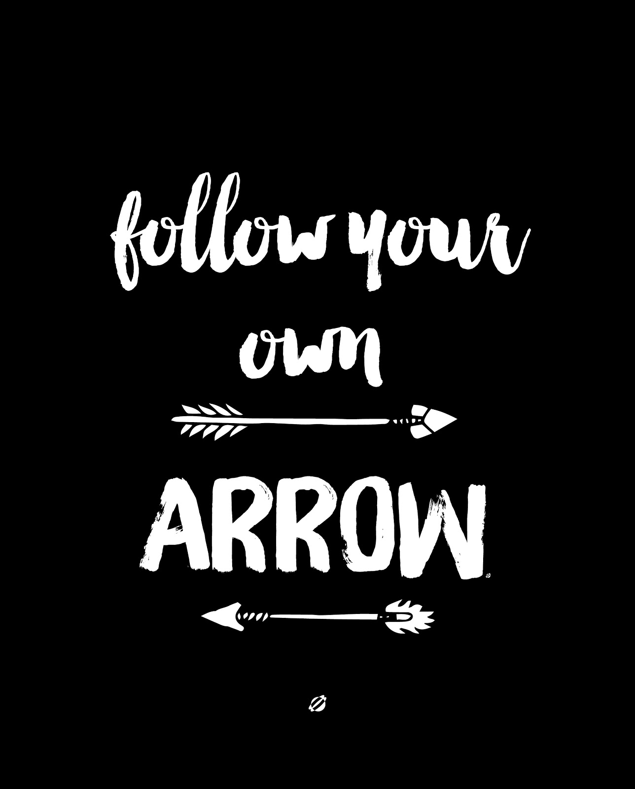 LostBumblebee ©2015 Follow Your Own ARROW : Free Printable : Personal Use Only