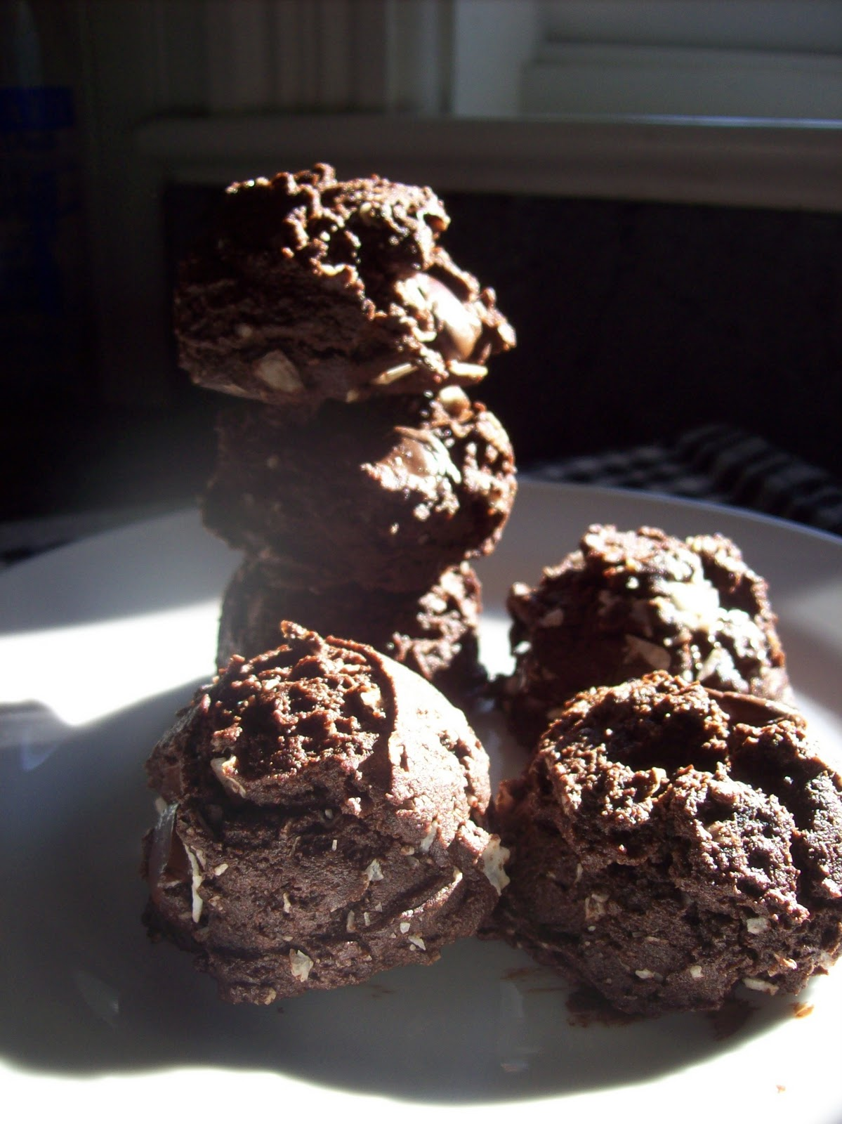 "... double dark chocolate cookies that are ""pretty"" healthy? really"