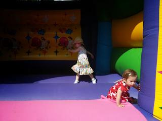 sunny bouncy castle fun