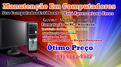 Manutenção em PC e só Que