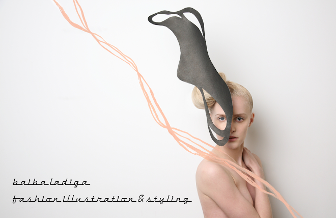 Shanghai based fashion stylist. illustrator and designer Baiba Ladiga blog