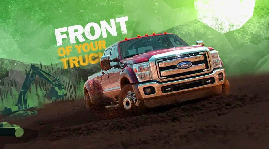 "New Ford 2015 Super Duty ""Front of your Truck"" Ad"