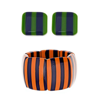 Striped Jewelry for Sports Fans