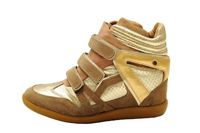 Tênis Sneakers feminino verão 2013 feminino dourado