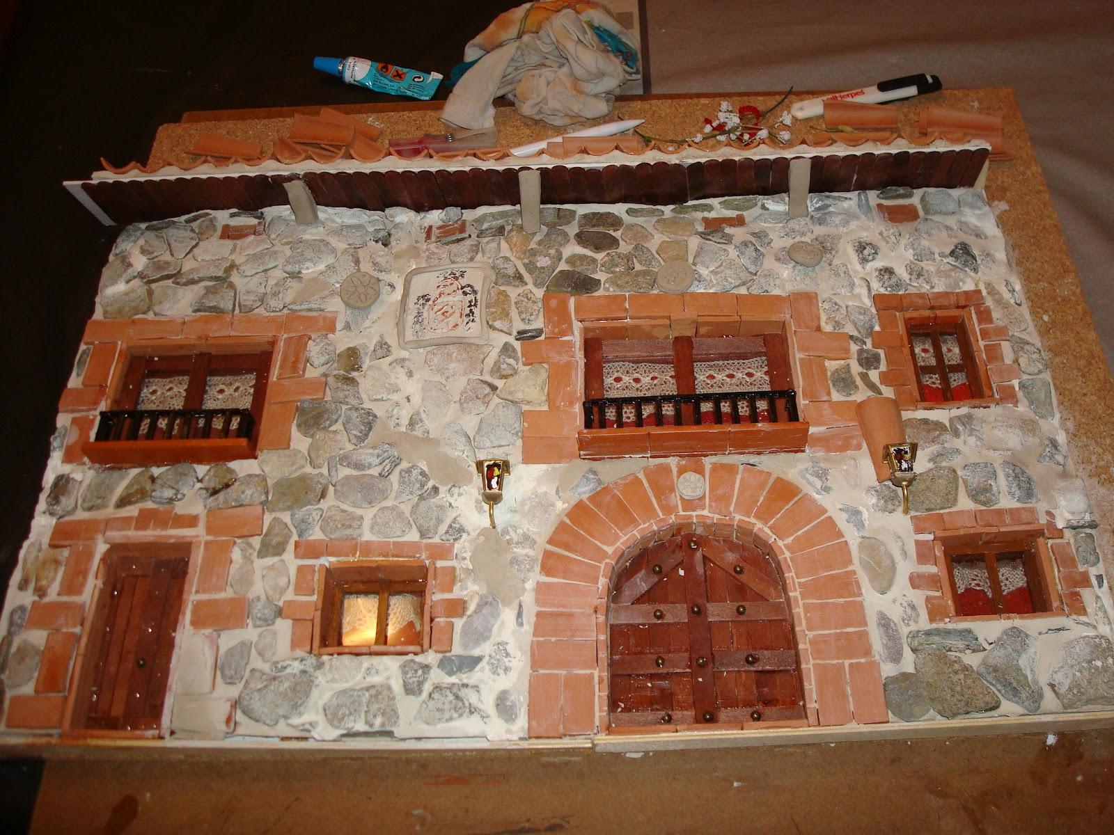 Creaciones y manualidades mi hobby manualidades fachada - Fachadas de piedra y ladrillo ...