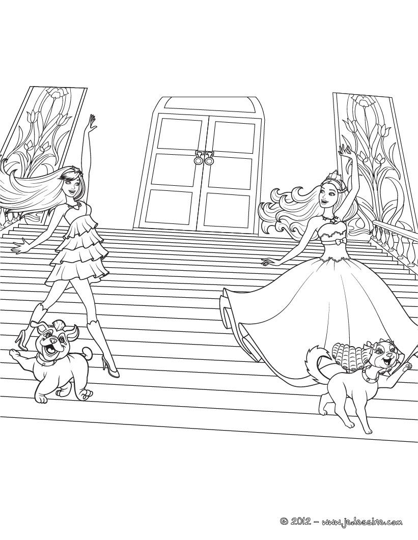 Barbie nuevas paginas de colorear de barbie en la princesa y la estrella del pop - Coloriage princesse barbie ...
