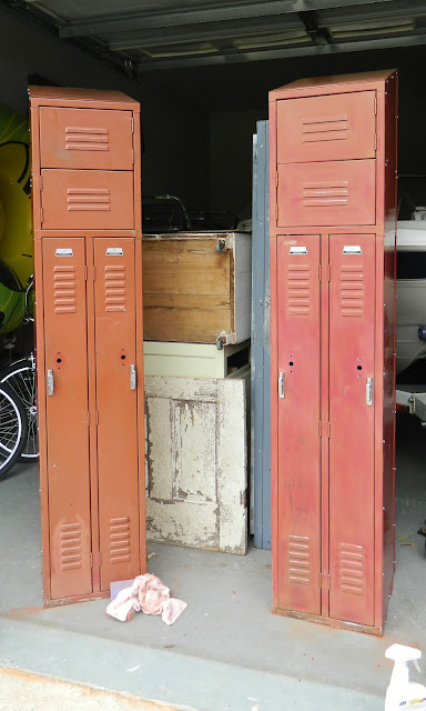 red schoolhouse lockers
