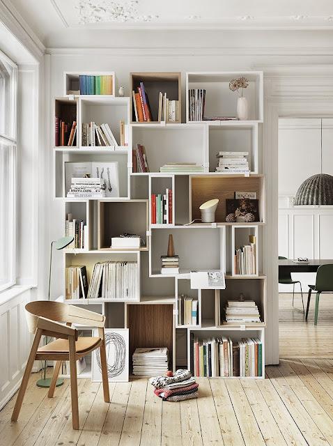 Ruang Baca Gaya Skandinavian