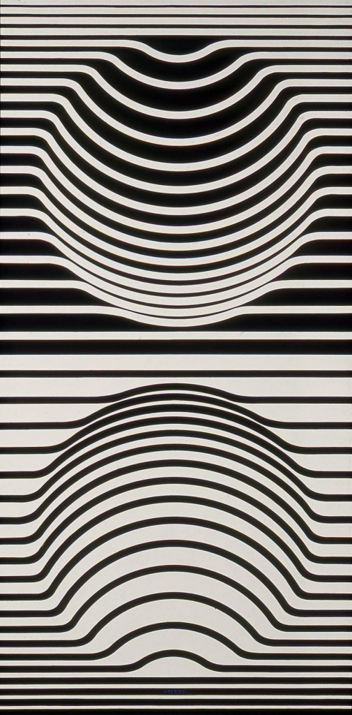 Line Optical Designing : Temple of light vasarely victor
