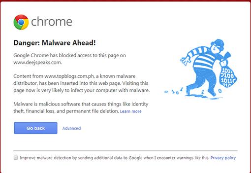 malware ahead, blog, TopBlogsph malware