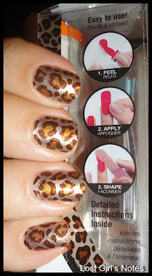 leopard nail art, nail polish strips