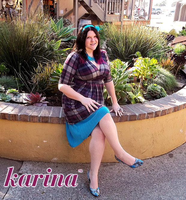 Penelope Dress by Karina in Purple Plaid #Dresstacular
