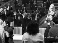 Singing at Lakewood Church