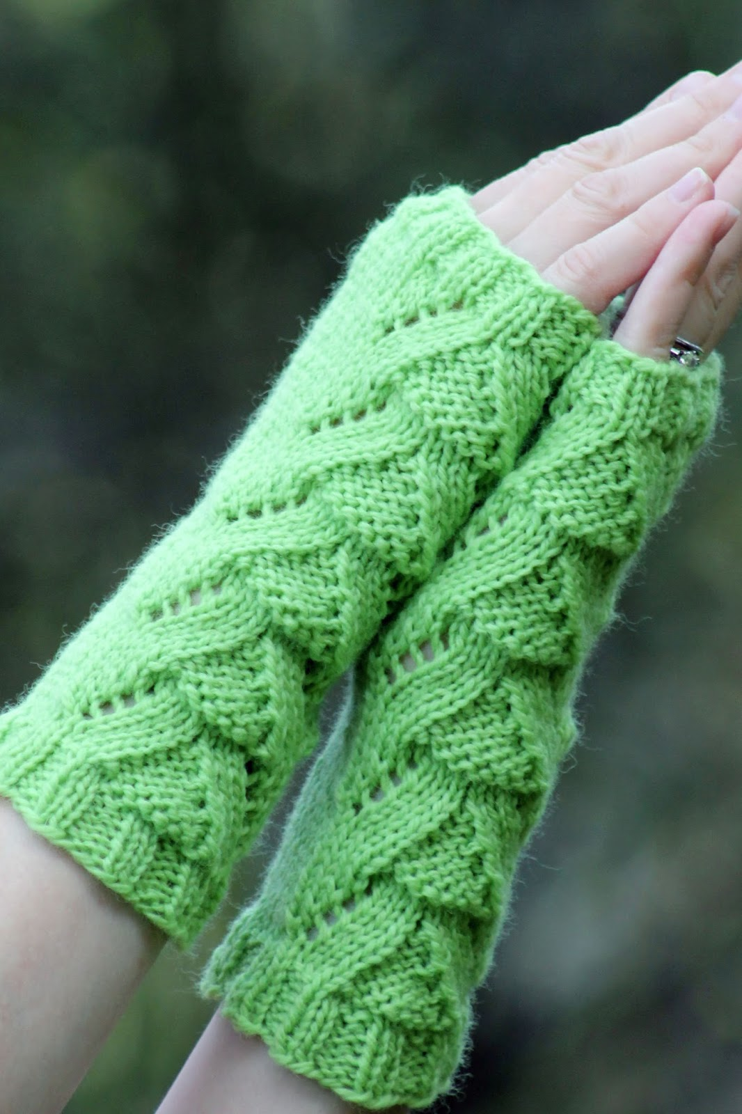 Balls to the Walls Knits: Lizard People Fingerless Gloves