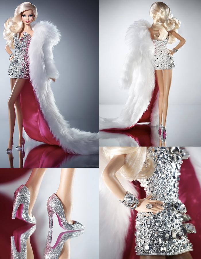A BARBIE DRAG QUEEN_vestido de barbie_barbie de coleção_barbie gay_barbie com roupa brilhante_vestido de diamantes_roupa de boneca
