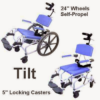 tilt-in space shower chair