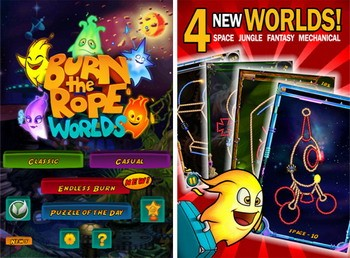 Burn the Rope Worlds available for iOS, Android version soon