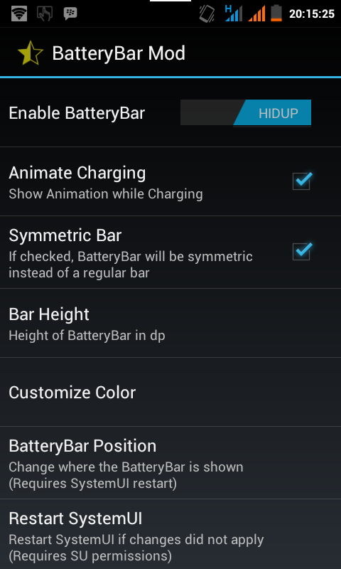 Cara Menambahkan Battery Bar di Android