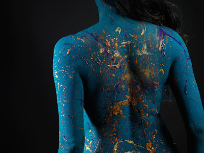 Veena Malik Painted Her Body in London For a Special Painting